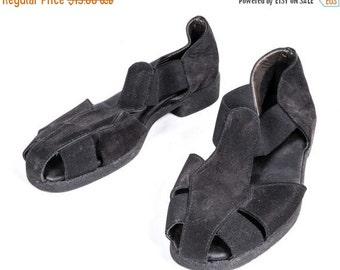 30% OFF Black Suede Loafer/Sandal Size 7 1/2