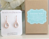Rose Gold Earrings, Gifts for Her, Bridesmaid Earrings Rose gold earrings, Rose Gold Wedding Best friend gifts wedding gifts, birthday gift