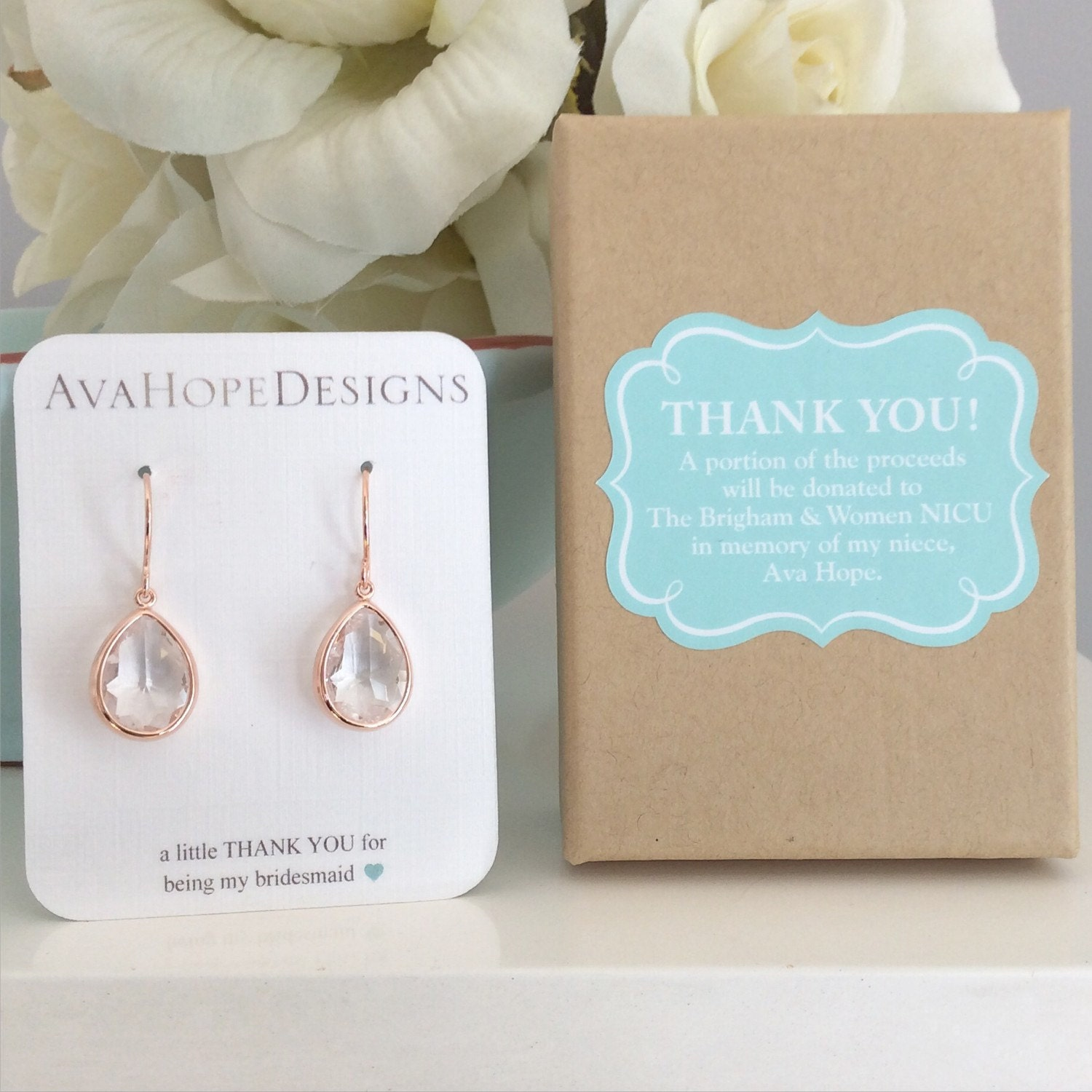 10 20 off bridesmaid sets rose gold earrings bridesmaid for Bridesmaid jewelry sets under 20