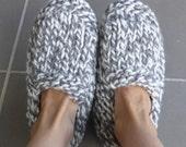 Chunky family slippers - PDF knitting pattern - Sierra