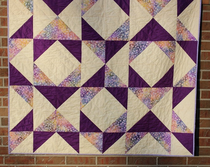 Modern Purple Quilted Throw