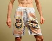 vintage 80s Tiger Lager Beer shorts Singapore beer drawstring 80s shorts 1980 vintage beer shorts medium large M L