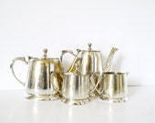 French Vintage Coffee or Tea Service  Hotel silverplate service 5 pieces