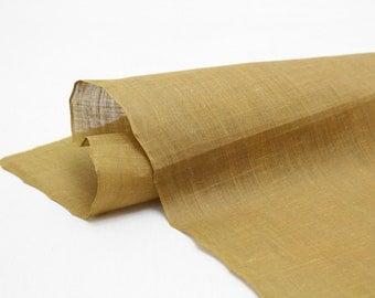 Artisan Hemp. Natural Dye Hand Loomed Japanese Linen Fabric. (Ref: 109)