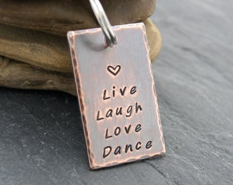 Gift For Dancer, Dancers Keychain, Dance Teacher Gift, Live Love Dance, Live Love Sing, Live Love Cheer, Dance Team Gifts, Cheer Team Gifts