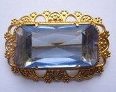 1950s VINTAGE Antique Gilded Jewelry Brooch Gilded USSR working latch! UNUSED!
