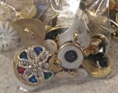 Fancy Gold Antique Vintage Style Embellishment Buttons Lot of 25