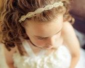 ON SALE Flower Girl Hair Accessory, Rhinestone Headband, Bridal Headband, Flower Girl Accessories, Wedding, DAKOTA