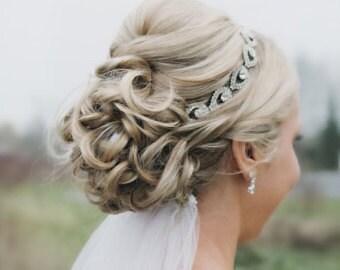 ON SALE Bridal Headband, Bridal Head Piece, ELSIE, Rhinestone Headband, Wedding Headband, Bridal Hair Piece, Bridal Headpiece, Rhinestone