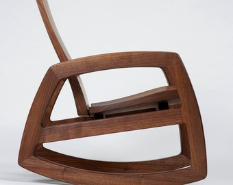 Cascade rocking chair in walnut