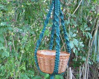 Forest 34 Inch No Beads Macrame Plant Hanger