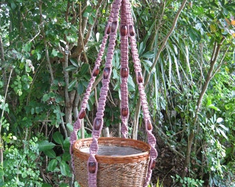 Teaberry 40 Inch Beads Macrame Plant Hanger