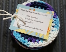 Face scrubbies cotton mini washcloths set of 6 bath beauty cleaner cleanser gift