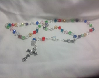 Multi-colored Crystal Rosary