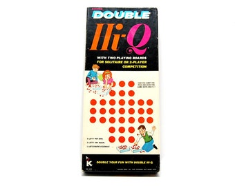 1970 Double Hi Q Game #220 Kohner Bros Fun Brain Challenging Peg Jumping Puzzle Classic Vintage 70s Toys One Two Player Games