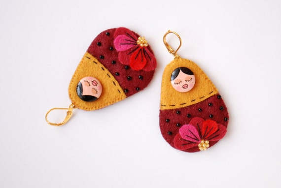 Matryoshkas earrings