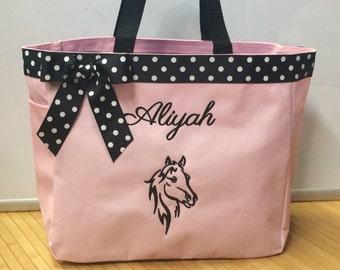 Personalized Horse Stallion Tote Bag Diaper Bag