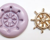 Ship wheel Mold #1378 - silicone, crafts, jewelry, resin, porcelain, clay, candies, baking, plastic, metal and more uses.