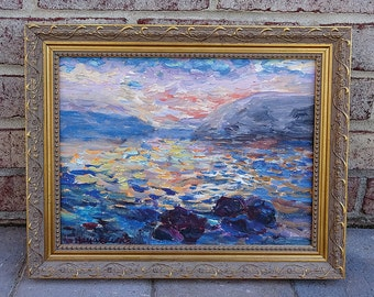 Vintage Impressionist Landscape Painting by Listed Artist Michele Taylor - Amazing!!