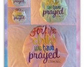 """SassyCloth one size pocket diaper with """"For this child we have prayed"""" embroidery on  PUL. Ready to ship."""