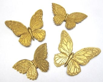 Butterfly Wall Decor Butterflies Set of Four Gold Homeco.