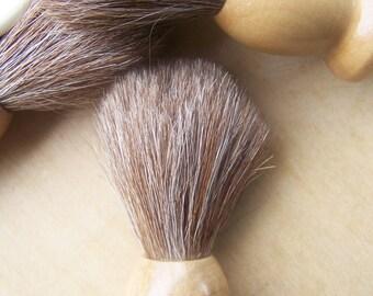 Cruelty free Shaving brush- Schima wood and horse hair