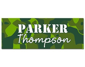Camo School Calling Card Labels Tags Printable or Printed - ANY Wording - Camo Collection