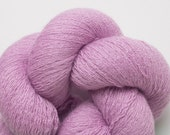 Lilac Pink Cashmere Blend Yarn, Orchid Cashmere Blend Lace Weight Recycled Yarn, 2552 Yards Available