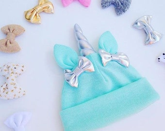 Mint Baby Unicorn Hat ON SALE