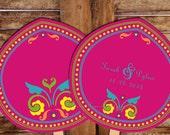Program Fan Hindu Wedding Ceremony Design Pdf Indian PRINTABLE RUSTIC RANGOLI Diy Template Digital Destination Decor Pakistani Asian Thai