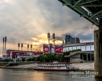 Great American Ballpark - Fine Art Photo Print, Wall Decor, Cincinnati Print, Baseball Stadium, Landscape