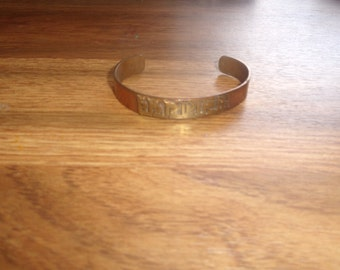 vintage bracelet solid copper