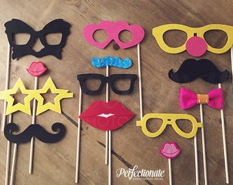Favorite 13 Photo Booth Set | Felt Photo Booth Props | Funny Photo Booth Props