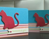 Cat Sympathy Card, Kitty Lover Card, Pet Sympathy Card