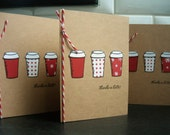 Thanks a Latte Thank You Cards Set of 3, Christmas Thank You Cards