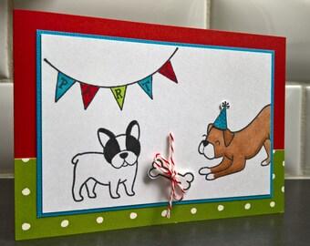 Dog Birthday Card, Boxer Card, French Bulldog Card, Dog Lover Card