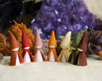 Seven little dwarfs  gnome  / Waldorf Inspired natural Table doll