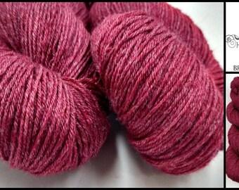Magenta 3.5oz 100g 430yd BFL Bamboo Sock Yarn Knitting Crochet Superwash BFL Wool