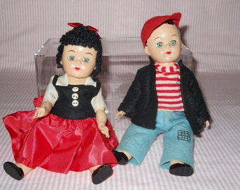 Nancy and Sluggo 8 inch Dolls Rare Grape-Nuts Premium