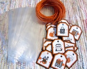 Halloween Treat Bags and Tags  set of 24
