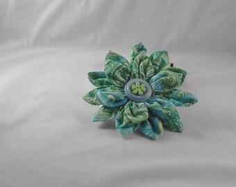 Flower petal hair clip