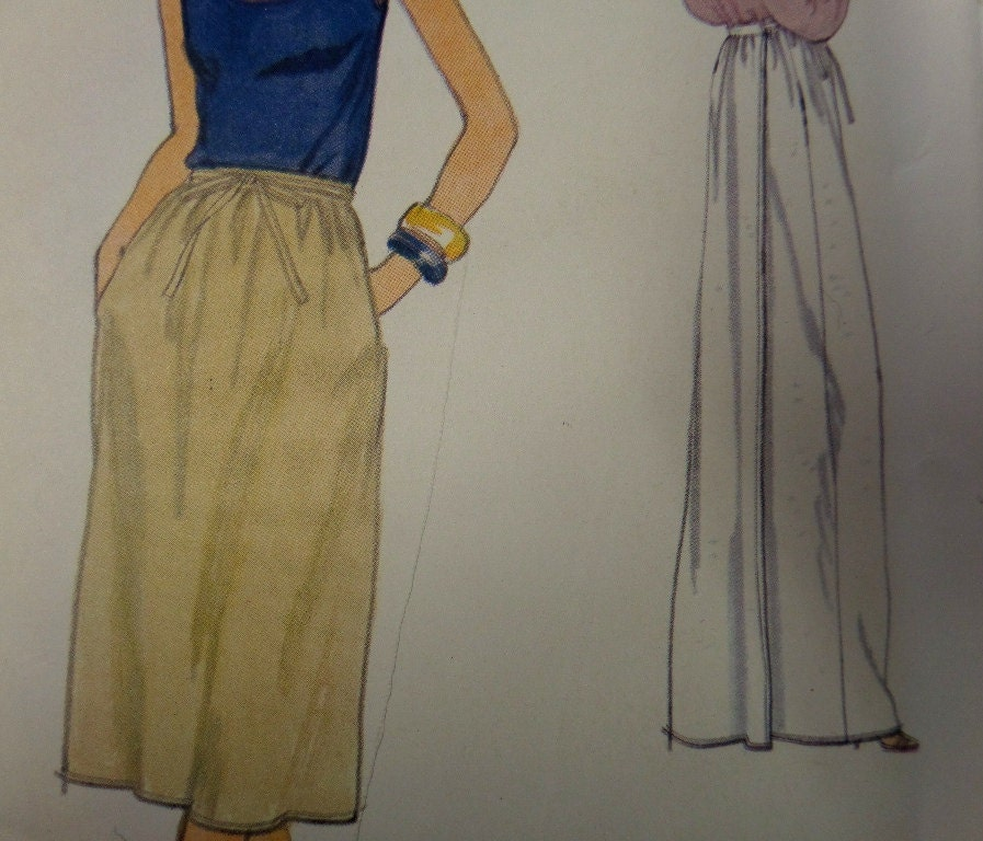 1970 s maxi back wrapping skirt pattern vogue 7117 miss