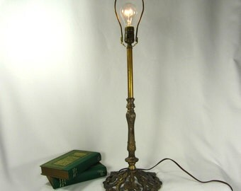 Table Lamp Real Brass and Mix Metal Vintage Parts Custom Made