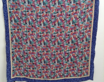 Vintage Absolut vodka silk scarf bandana