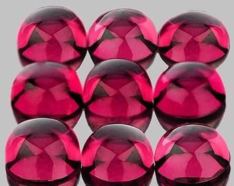 Bright Raspberry Pink  Rhodolite Garnet Round Cabochons 5 MM Ea. Genuine Umbalite, Tanzania, Priced Ea.