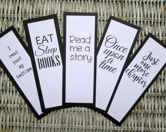 Bookmarks Book Club Favor Book Lovers Quotes