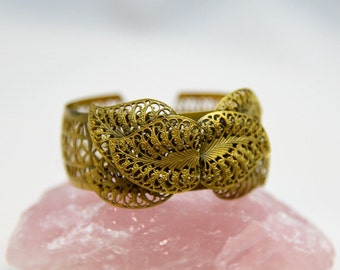 Brass filigree cuff c.1930's