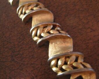 TRIFARI woven / braided  ribbon satin work link brace