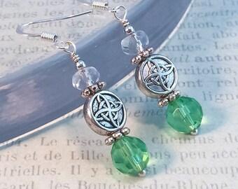 Green Chakra Earrings, Heart Chakra Earrings, Wedding Jewelry, Yoga Jewelry, Reiki Jewelry, Chakra Jewelry, Reiki Earrings, Green Earrings