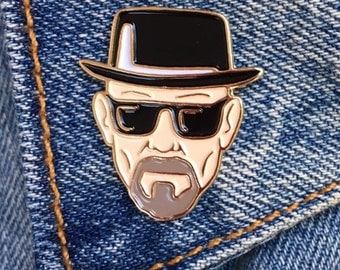 Walter White Pin, Breaking Bad, Soft Enamel Pin, Jewelry, Art, Gift (PIN17)